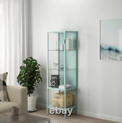 RUDSTA Glass-door cabinet, light turquoise 16 1/2x14 5/8x61 NEW