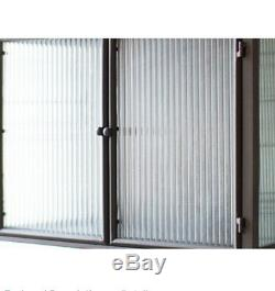 Rustic Metal Wall Cabinet Vintage Style Ribbed Glass Double Doors Bar