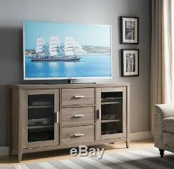 Smart Home 171919 Entertainment Center Media Console TV Stand with 2 Glass Doors