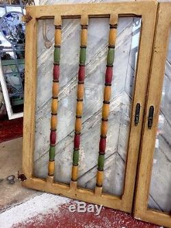 Spanish Built In Cabinet Doors Wooden Spindle And Glass Cabinet Window 1920's