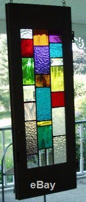 Stained Glass in old cabinet door
