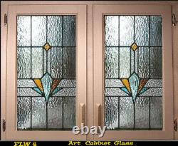 Stained glass inserts for Cabinet doors in new & existing Kitchens FLW 4