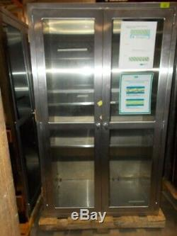 Stainless Steel Cabinet with Glass Door