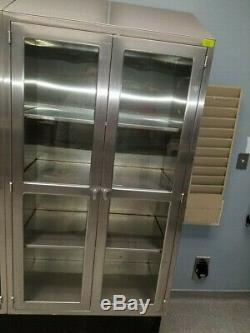 Stainless Steel Cabinet with Glass Doors