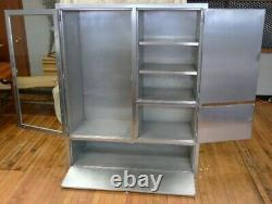 Storage Cabinet of Stainless Steel, Built-in, with Glass door fronts and Adjusta