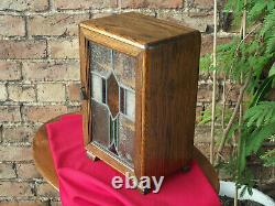 Suburban smoker cabinet with stained glass door suitable for conker champion