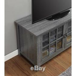 TV Stand Cabinet with 2 Glass Doors for TVs up to 55 inches Versatile Media Rack