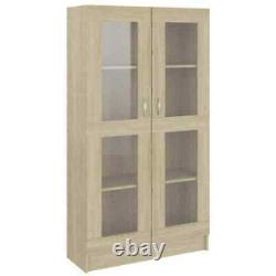Tall 4 Tier Bookcase Shelving Display DVD Storage Unit Cabinet Shelves With Door
