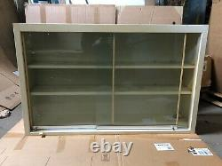 Tan Lab Casework Overhead Cabinet with Sliding Glass Doors, 48W