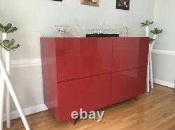 Uni UN/7 cabinet 4 doors by Piero Lissoni for Cappellini in Red LX, $14k retail