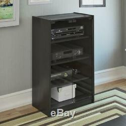 Video Component Stand TV Audio Stereo Entertainment Cabinet 4-Sh Glass Door