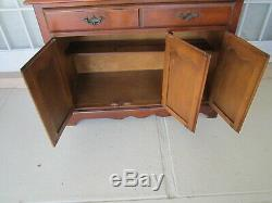 Vintage China Hutch Cabinet Curio Buffet With Glass Doors 2 Piece 1950s Cochrane