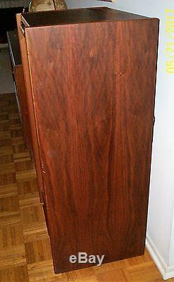 Vintage Mid Century Modern Walnut Stereo Cabinet With