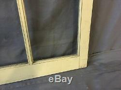 Vtg Arch Dome Top Door 28x41 Window Cabinet 10 Lite Shabby Old Chic 210-19E
