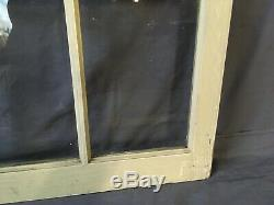 Vtg Arch Dome Top Door 28x41 Window Cabinet 10 Lite Shabby Old Chic 211-19E