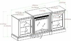 Walker Edison Modern Wood Fireplace Stand with Cabinet Doors and Drawers 65