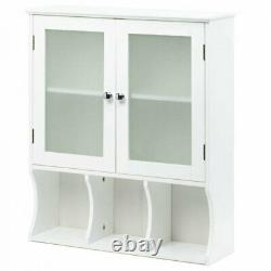 Wall Cabinet with Frosted Glass Doors