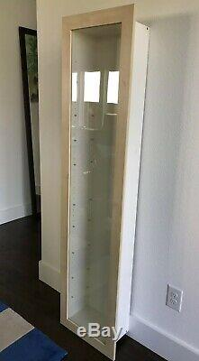 Wall-Mounted Glass Door Curio Cabinet Display Case or Recessed Wall Cabinet 67