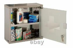 Wall Mounted Locking Medicine Medical Cabinet Lockable First Aid Cupboard Box
