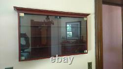 Wall cabinet, display case, wood with glass doors