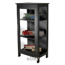 Winsome Poppy Display Curio Cabinet in Black