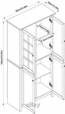 Wood Storage Cabinet Tempered Glass China Doors Cabinet Cubbies Pantry Farmhouse