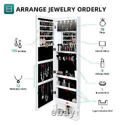 YITAHOME Wall Door Mounted Jewelry Cabinet Armoire Large Jewelry Organizer Rack